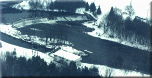 Maple Hill Dam and private generating station located  between Hanover and Walkerton.
